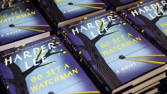 """Copies of Harper Lee's book """"Go Set a Watchman"""" are displayed on a table inside of a Barnes & Noble store in New York, July 14, 2015. """"Go Set a Watchman,"""" the much-anticipated second novel by """"To Kill a Mockingbird"""" author Harper Lee, is the most pre-ordered print title on Amazon.com since the last book in the """"Harry Potter"""" series, Amazon said. REUTERS/Lucas Jackson"""