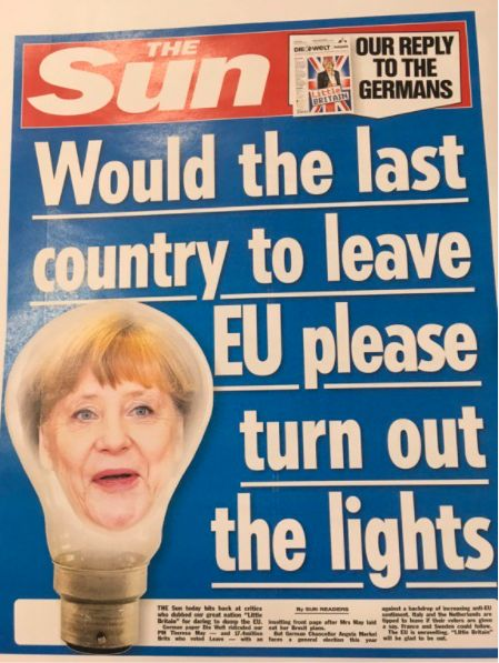 The Sun Has Trolled Twitter With A Front Page Baiting A German