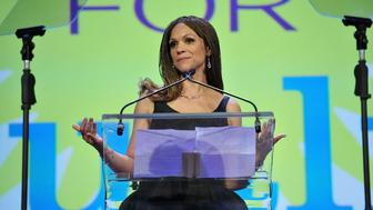 NEW YORK, NEW YORK - APRIL 04:  Writer Melissa Harris-Perry speaks onstage at PFLAG National's eighth annual Straight for Equality awards gala at Marriot Marquis on April 4, 2016 in New York City.  (Photo by D Dipasupil/Getty Images for PFLAG National )