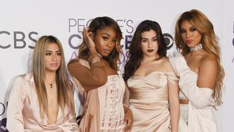LOS ANGELES, CA - JANUARY 18:  (L-R) Singers Ally Brooke, Normani Kordei, Lauren Jauregui, and Dinah Jane of Fifth Harmony attend the People's Choice Awards 2017 at Microsoft Theater on January 18, 2017 in Los Angeles, California.  (Photo by Alberto E. Rodriguez/Getty Images)