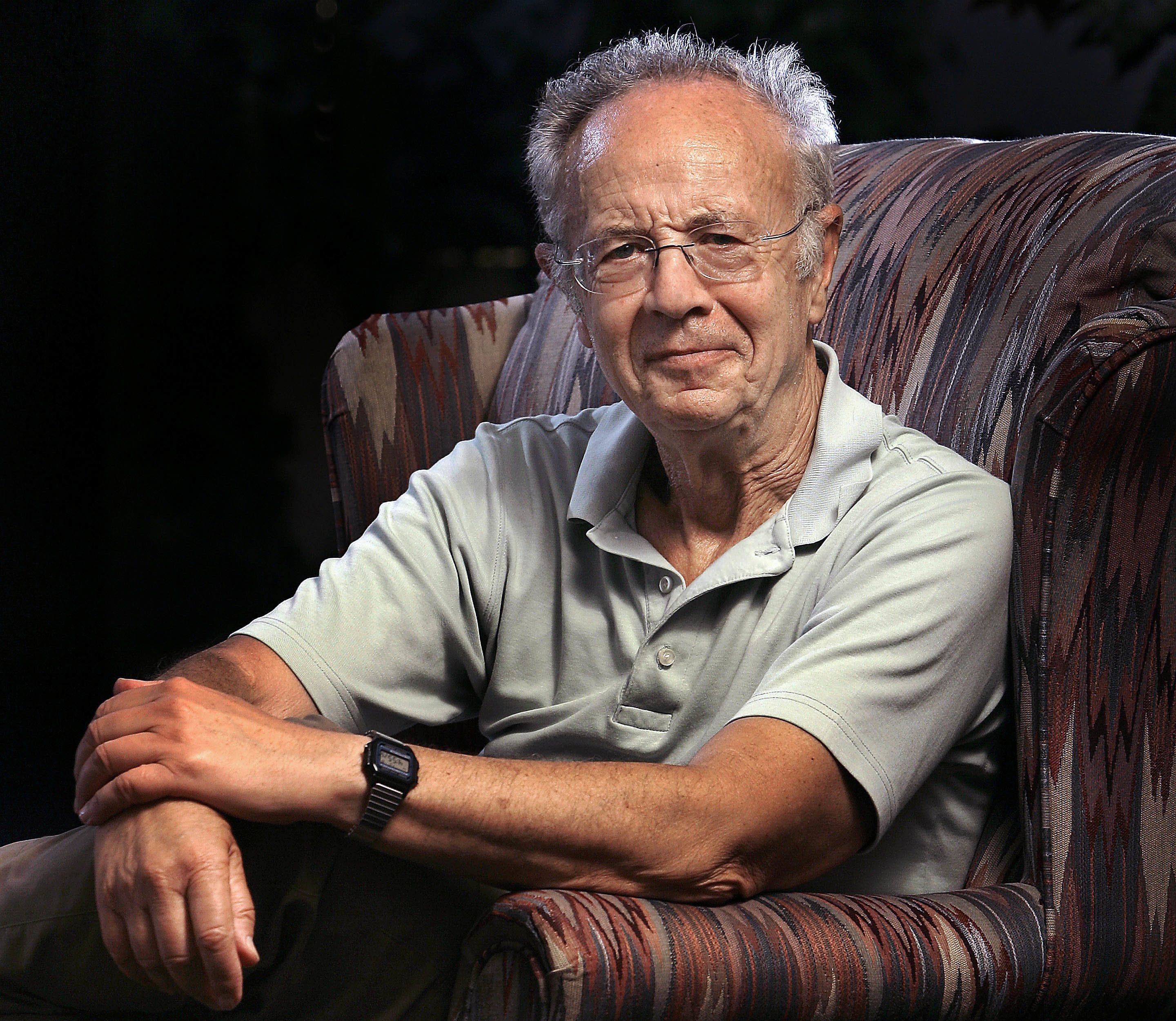 UNITED STATES - JULY 08:  Andrew 'Andy' Grove, co-founder and senior adviser to Intel Corp., poses before an interview in his office in Los Altos, California, U.S., on Tuesday, July 8, 2008. Grove asked students in his Stanford University business school seminar last year to determine whether an electric car market could thrive in the U.S. Their conclusion: It can't.  (Photo by Tony Avelar/Bloomberg via Getty Images)