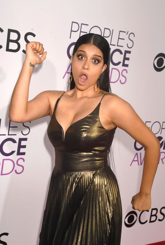 Lilly Singh Works The Hell Out Of The People's Choice Awards Red