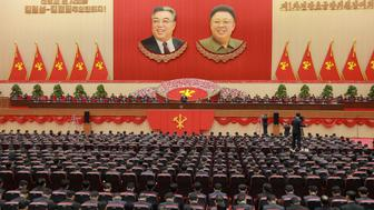 North Korean leader Kim Jong Un (C) speaks during the first party committee meeting in Pyongyang, in this undated photo released by North Korea's Korean Central News Agency (KCNA) December 25, 2016. REUTERS/KCNA   ATTENTION EDITORS - THIS PICTURE WAS PROVIDED BY A THIRD PARTY. REUTERS IS UNABLE TO INDEPENDENTLY VERIFY THE AUTHENTICITY, CONTENT, LOCATION OR DATE OF THIS IMAGE. FOR EDITORIAL USE ONLY. NOT FOR SALE FOR MARKETING OR ADVERTISING CAMPAIGNS. NO THIRD PARTY SALES. NOT FOR USE BY REUTERS THIRD PARTY DISTRIBUTORS. SOUTH KOREA OUT. NO COMMERCIAL OR EDITORIAL SALES IN SOUTH KOREA. THIS PICTURE IS DISTRIBUTED EXACTLY AS RECEIVED BY REUTERS, AS A SERVICE TO CLIENTS.