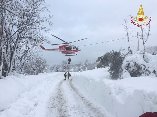 Firefighters have launched a rescue operation near the buried