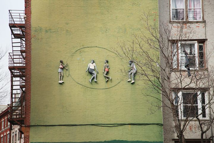 "The photo above shows the <em>""Bronx Double Dutch""</em> mural  mentioned in the caption below James Fuentes photo. The mural"