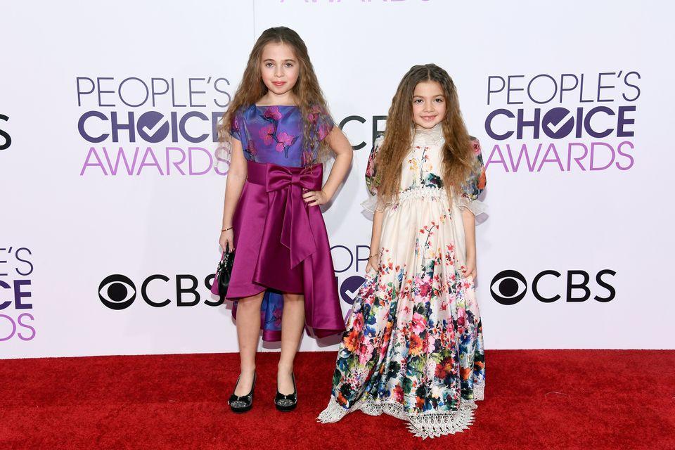 Actresses Sofia Jellen (L) and Olivia Jellen in Nancy Vuu