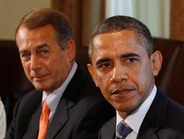 Barack Obama and John Boehner during the 2011 debt ceiling negotiations.