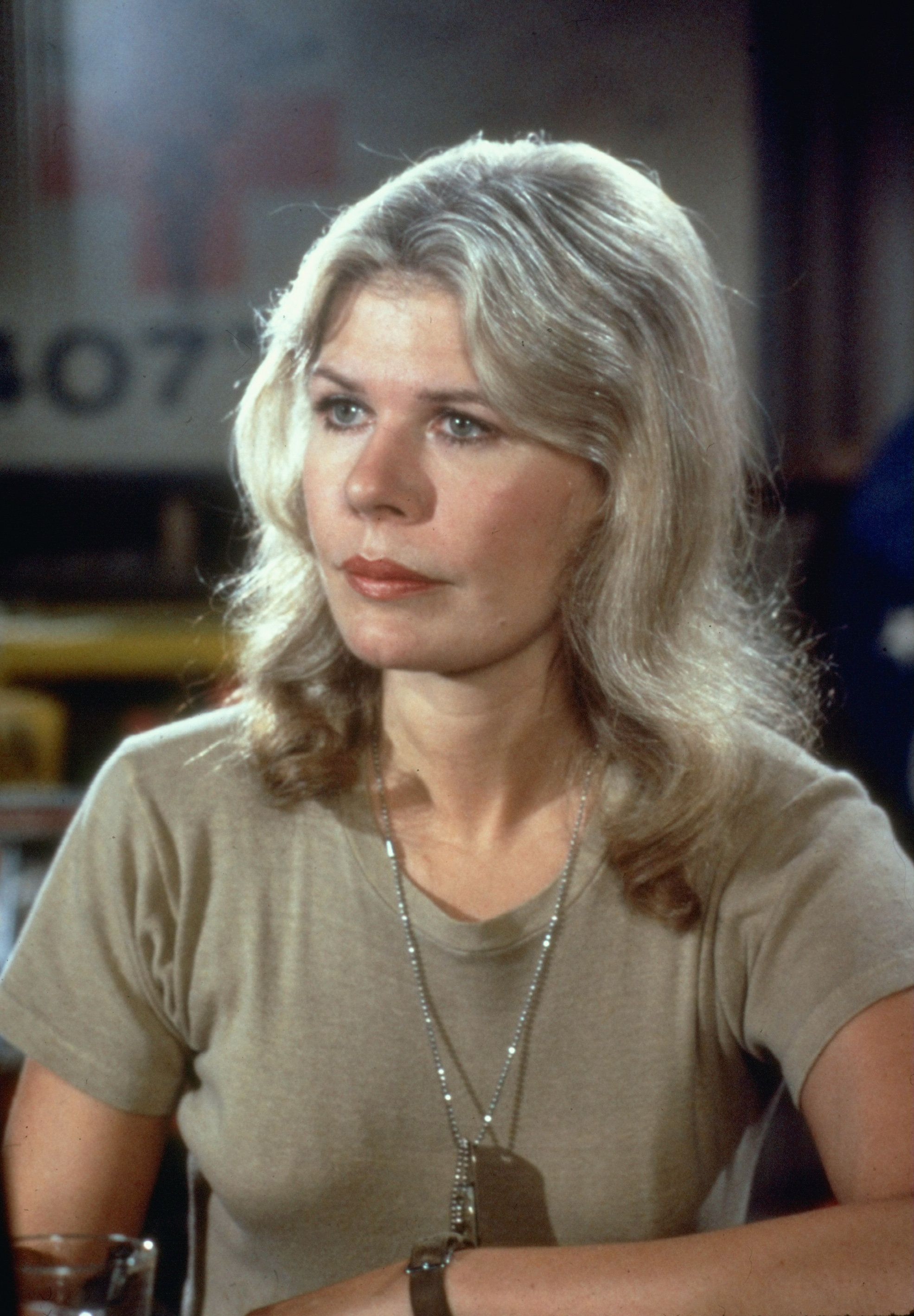 Close-up of American actress Loretta Swit, in costume as Major Margaret Houlihan, in a scene from the television series 'MASH,' California, 1974. (Photo by CBS Photo Archive/Getty Images)