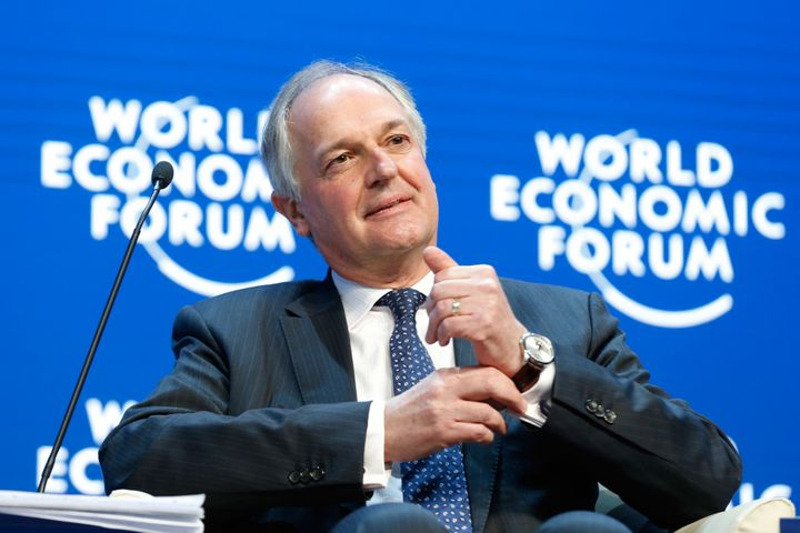 Paul Polman, chief executive officer of Unilever Plc, pauses during a session on day three of the World Economic Forum (WEF)