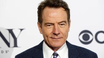 Bryan Cranston, nominee for best performance by an actor in a leading role in a play, arrives at a Tony nominee luncheon in New York April 30, 2014. REUTERS/Lucas Jackson (UNITED STATES - Tags: ENTERTAINMENT)
