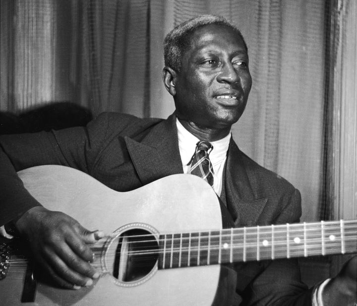 Iconic folk-blues singer Huddie Ledbetter, known as Leadbelly, back in 1937.