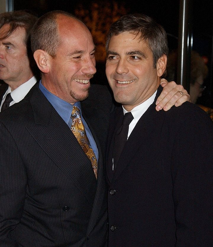 Miguel Ferrer and George Clooney during An Evening To Remember Rosemary Clooney at Beverly Hilton Hotel in Beverly Hills, Cal