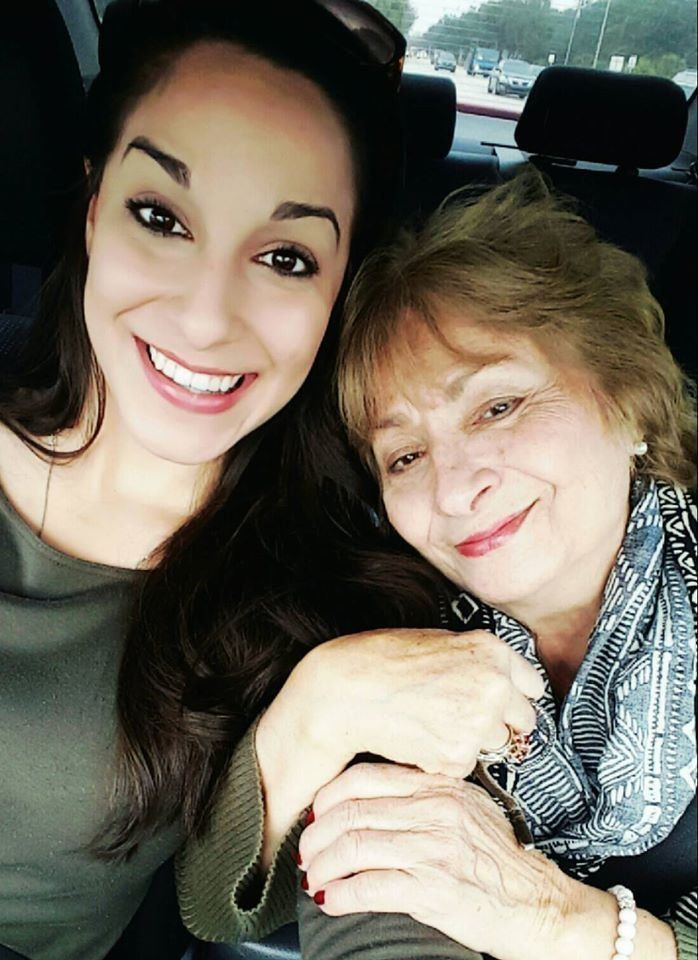 Christina and grandma get their selfie on.