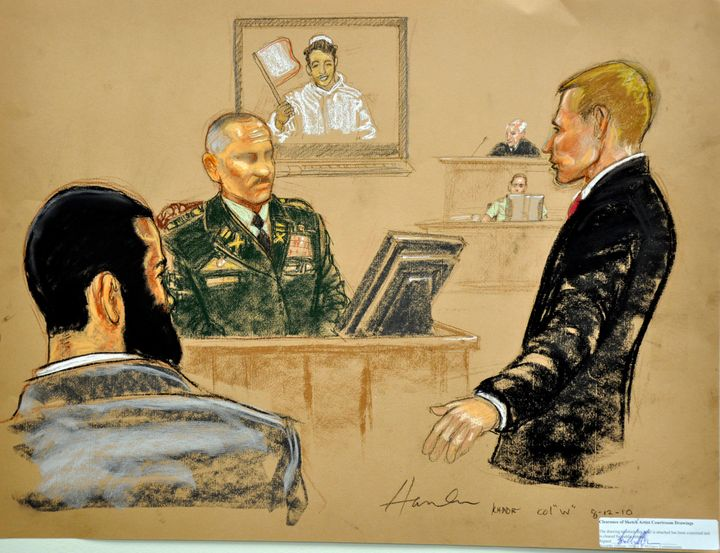 Detainee Omar Khadr (left) was one of those tried by military tribunal during the Obama administration.