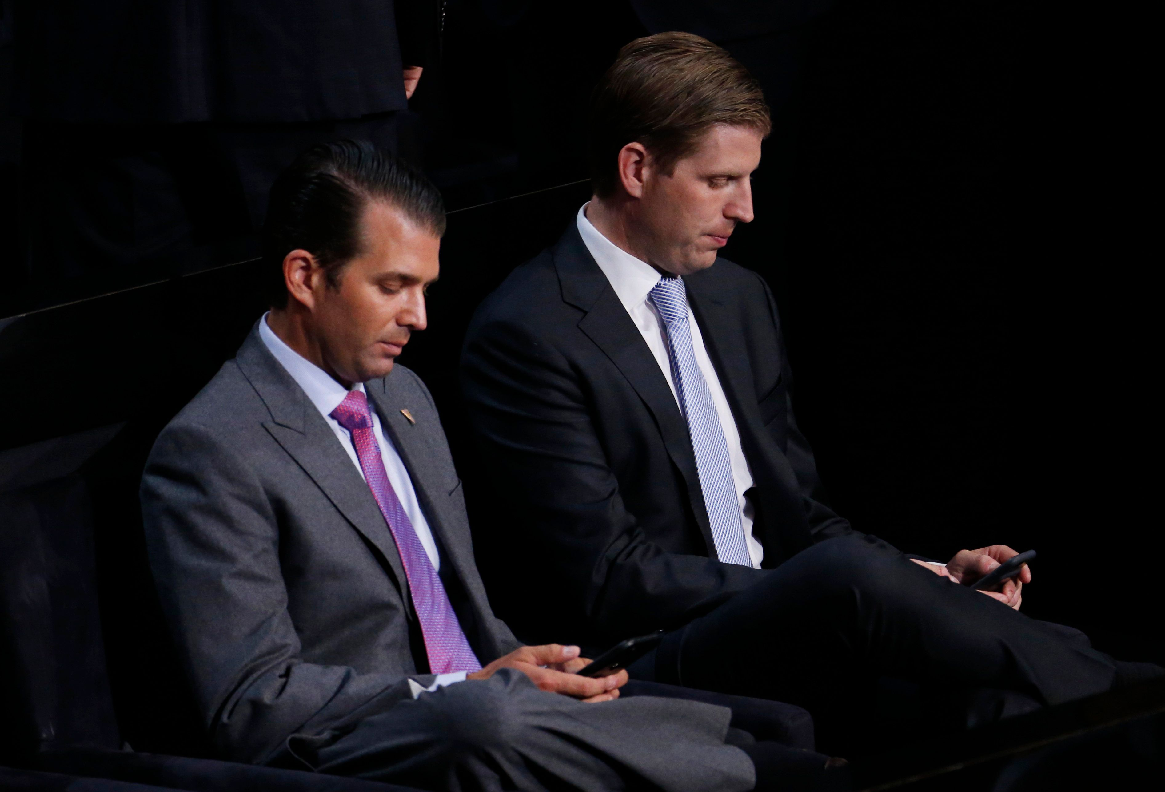 Donald Trump Jr. and his brother Eric at the Republican National Convention in