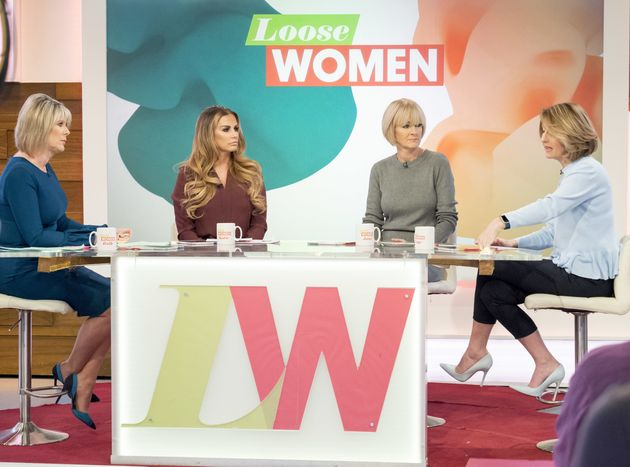 Katie is a regular on the 'Loose Women'