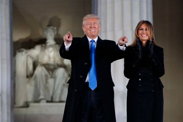 Trump, and his wife Melania Trump arrive to the