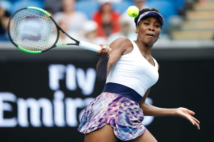 Venus Williams, pictured Friday during her third-round victory at the Australian Open, was the subject of controversial comme