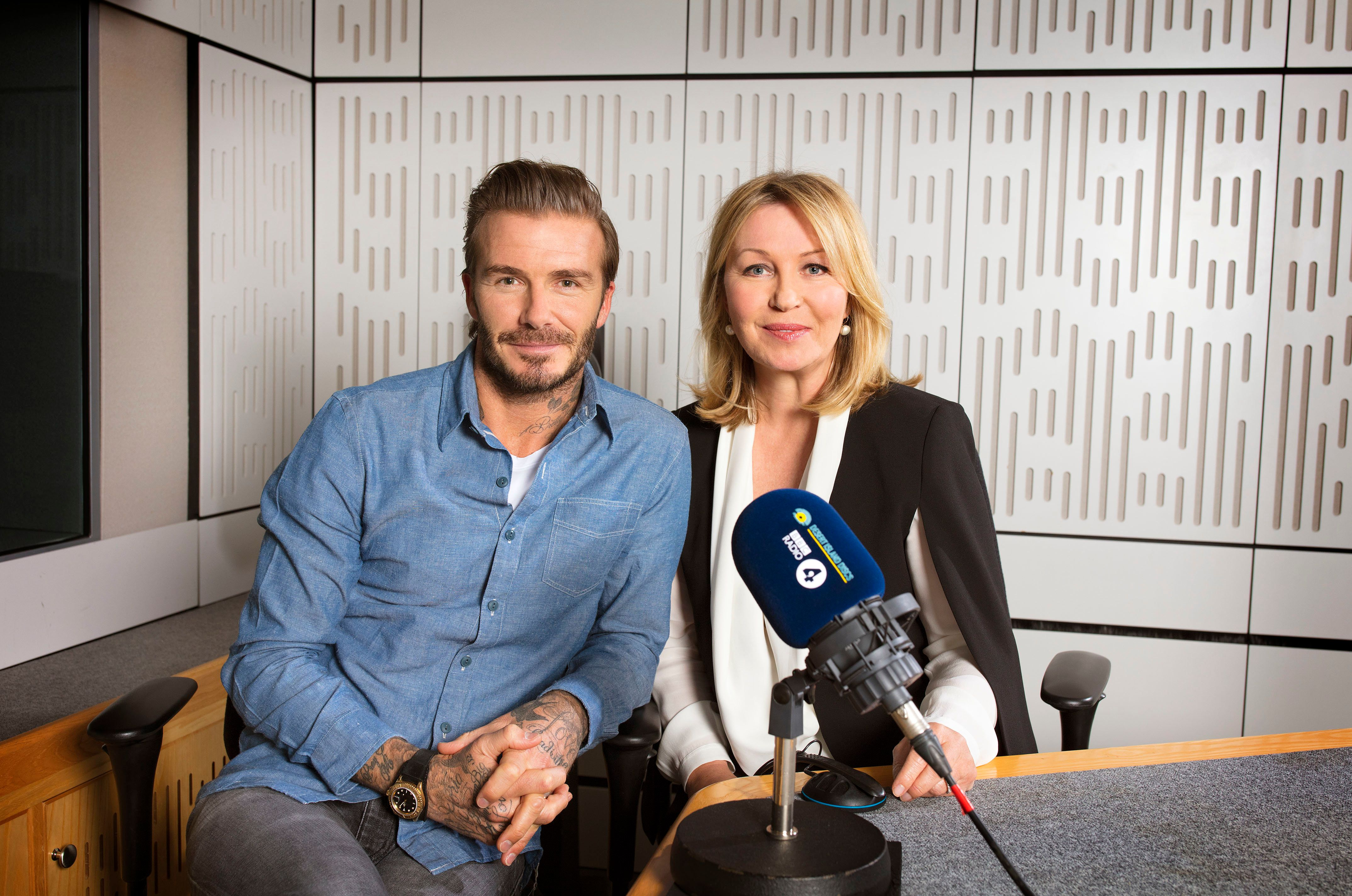 Desert Island Discs host Kirsty Young with her latest Castaway, David