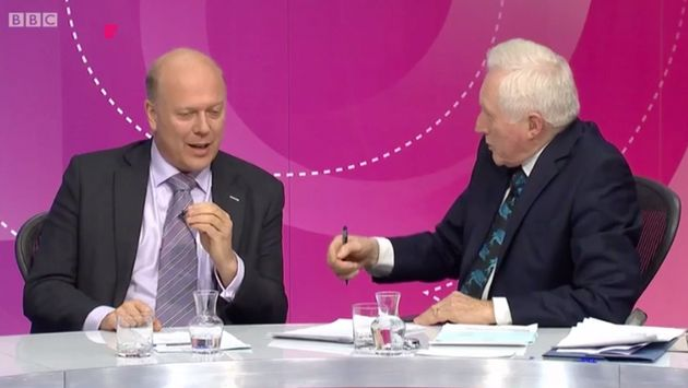BBC Question Time: Chris Grayling Mocked For Quick Backpedal On Brexit £350m NHS