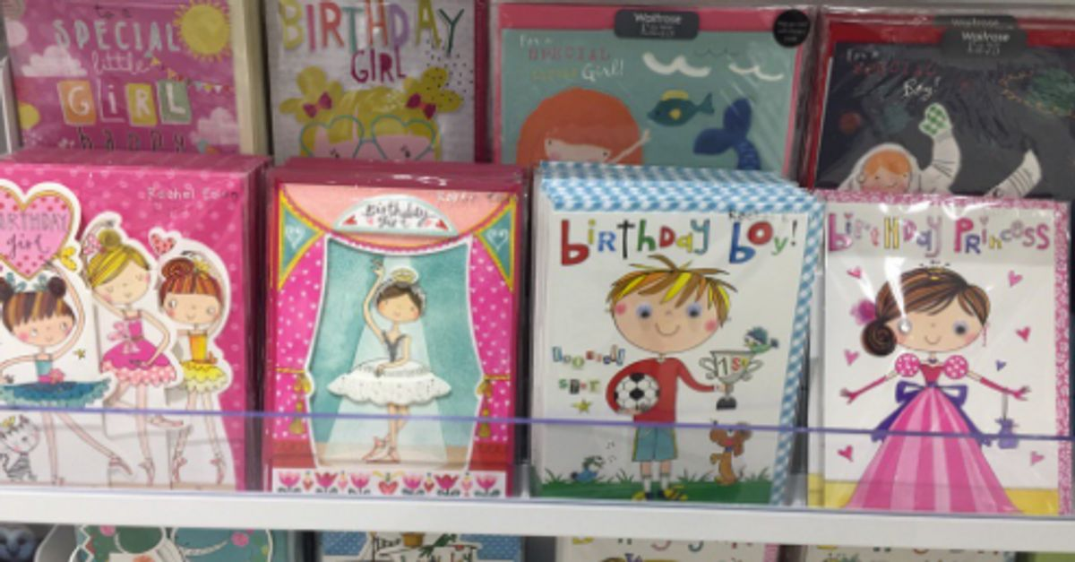 Man calls out waitrose for kids birthday cards selection that man calls out waitrose for kids birthday cards selection that portray gender stereotypes m4hsunfo