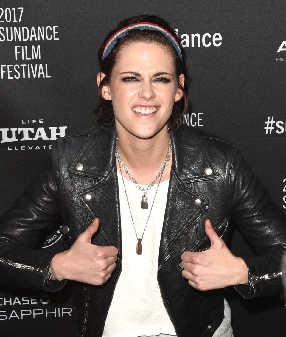 PARK CITY, UT - JANUARY 19:  Kristen Stewart attends the premiere of her film 'Come Swim' at Prospector Theatre during the 20