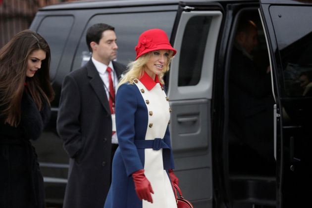 Kellyanne Conway Is Wearing A $3,600 Coat Studded With (Ahem)