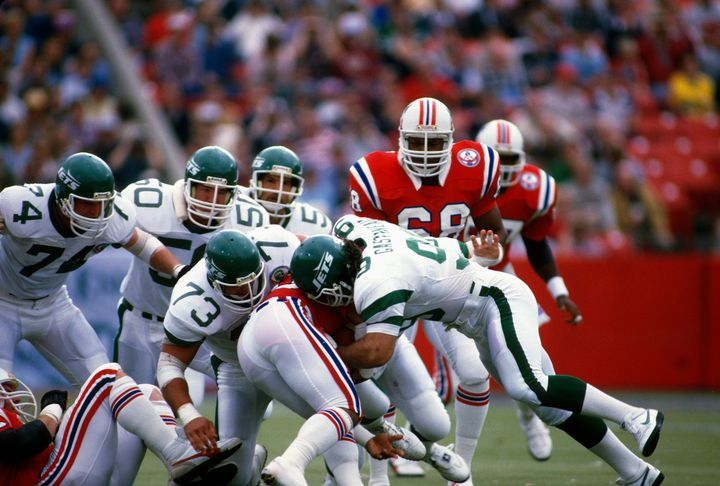 Mark Gastineau, pictured in a 1984 game, says doctors advised him of his serious health issues a year ago.