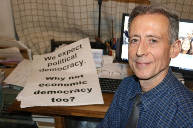Peter Tatchell at home in his south London flat in