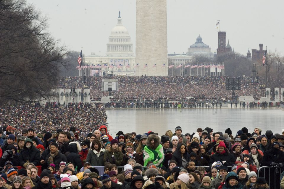 WASHINGTON, DC - Jan. 18: Thousands pack the National Mall during the 'We Are One' event opening the 56th inauguration of Pre