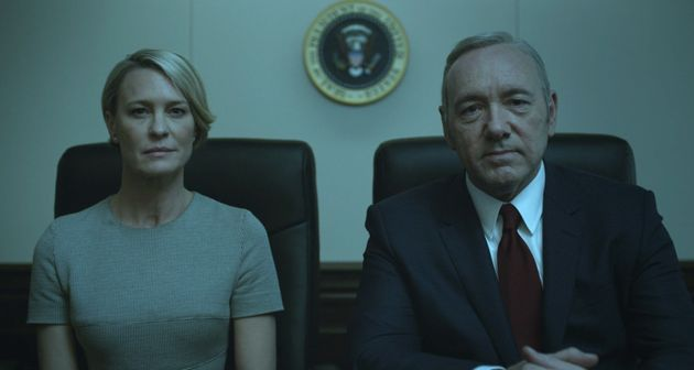 Robin Wright and Kevin Spacey as Claire and Frank