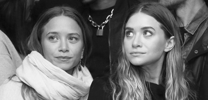 Mary-Kate Olsen, left, and sister Ashley, right.