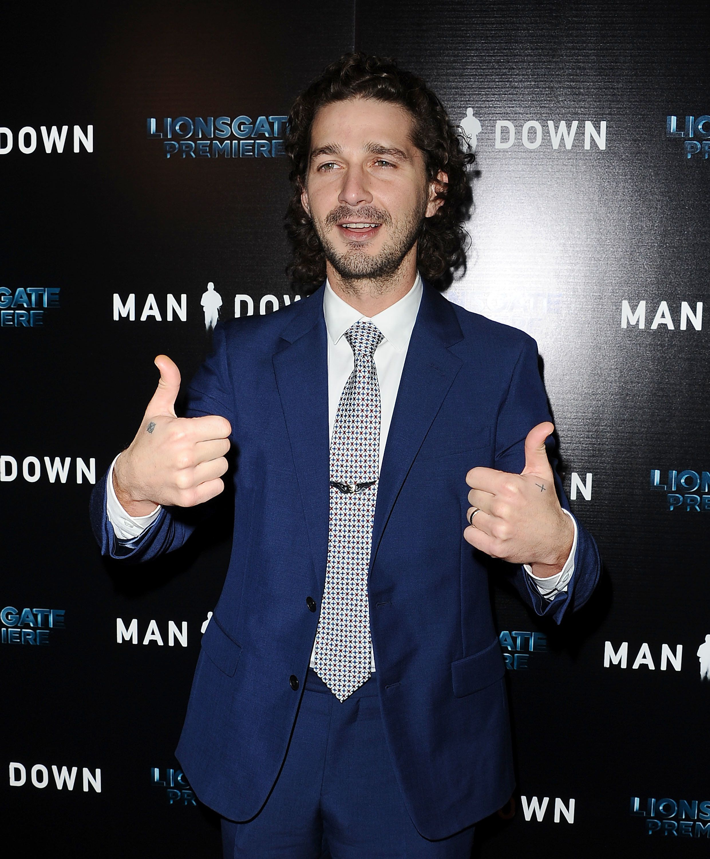HOLLYWOOD, CA - DECEMBER 01:  Actor Shia LaBeouf attends the premiere of 'Man Down' at ArcLight Hollywood on November 30, 2016 in Hollywood, California.  (Photo by Jason LaVeris/FilmMagic)