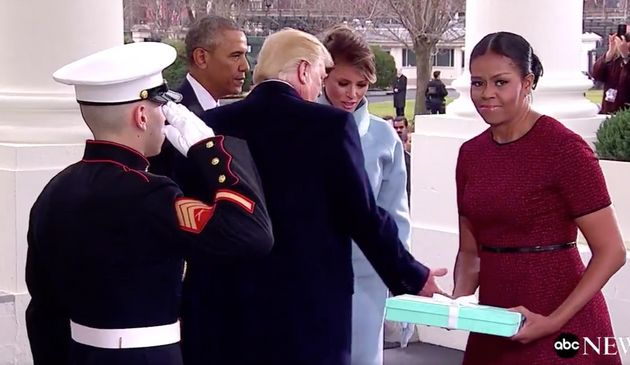 This Was Michelle Obama's Face Accepting Melania Trump's