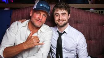 ZURICH, SWITZERLAND - SEPTEMBER 30: Woody Harrelson and Daniel Radcliffe at the Tommy Hilfiger Dinner in celebration of the 12th Zurich Film Festival on September 30, 2016 in Zurich, Switzerland.  (Photo by Remy Steiner/Getty Images for Tommy Hilfiger)