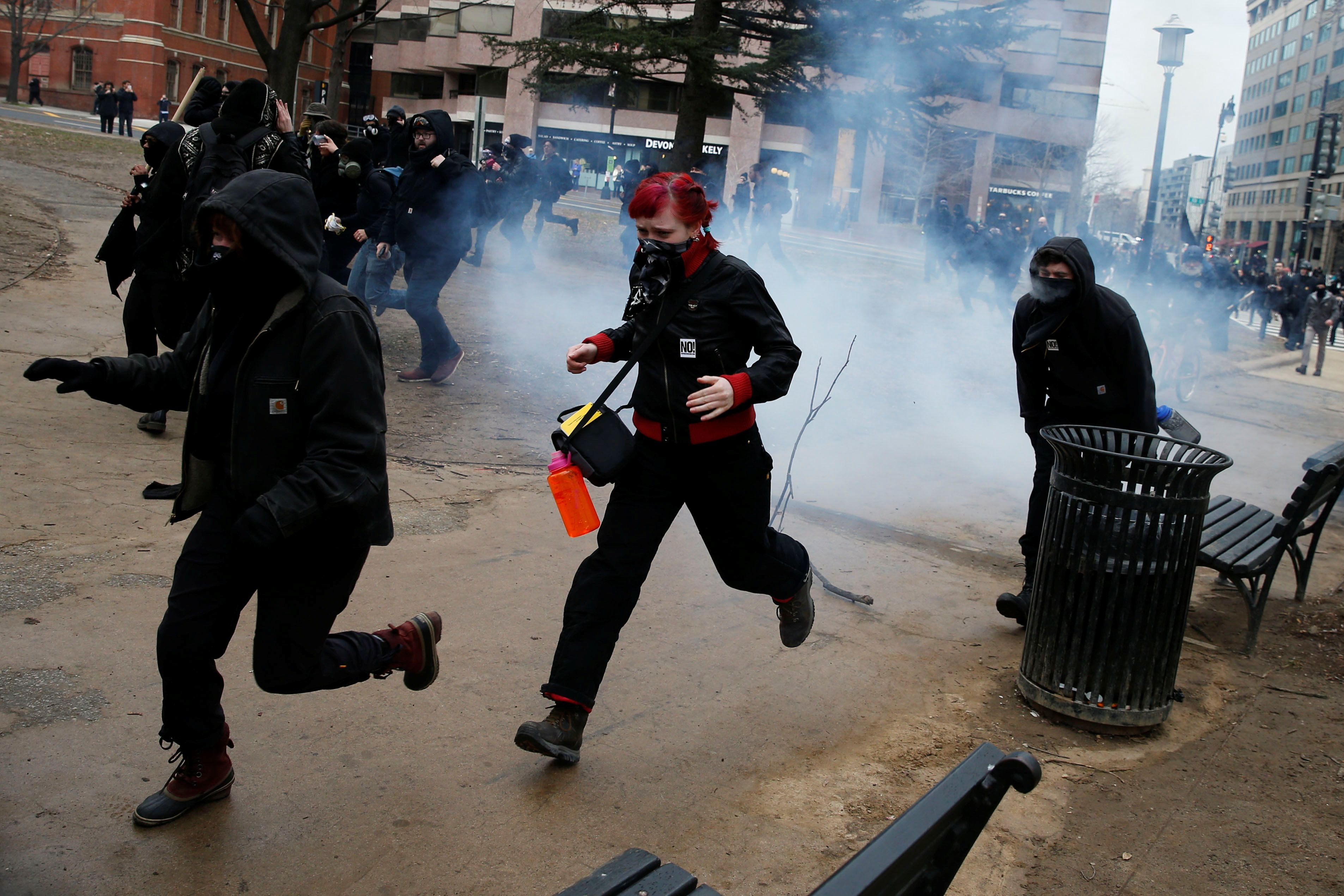 Protests, Violence Flare Around Inaugural