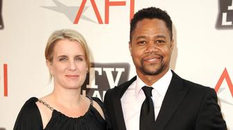 CULVER CITY, CA - JUNE 09:  Actor Cuba Gooding Jr. (R) and Sara Kapfer arrive at AFI's 39th Annual Achievement Award Honoring Morgan Freeman at Sony Pictures Studios on June 9, 2011 in Culver City, California.  (Photo by Steve Granitz/WireImage)