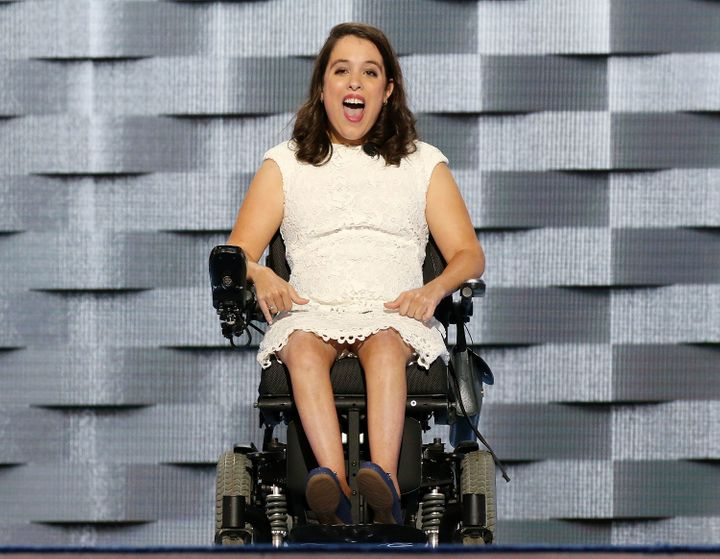 Anastasia Somoza, an international disability rights advocate, delivered remarks on the first day of the Democratic National Convention.