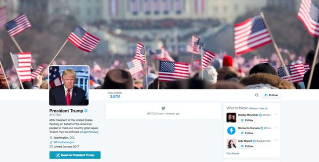Donald Trump's New Twitter Account Uses Photo From Barack Obama's