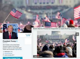 Donald Trump's New Twitter Account Uses Photo From Barack Obama's Inauguration