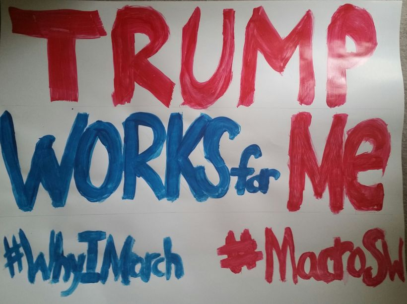My sign is ready to go for the Women's March! I wish I was a better artist.