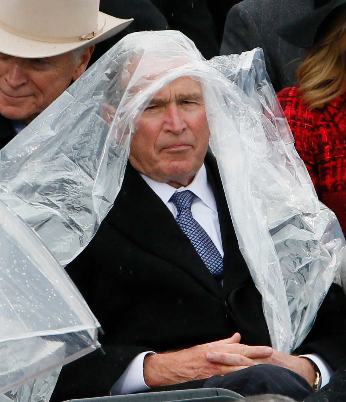 George W. Bush Fought With His Poncho And The Internet Loved