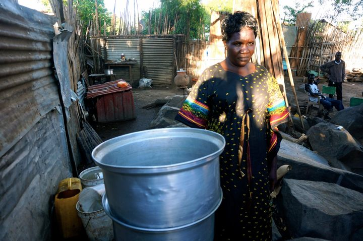 Oyella William makes extra cash by distilling and selling the local spirit siko at home. But she often has to suffer harassme
