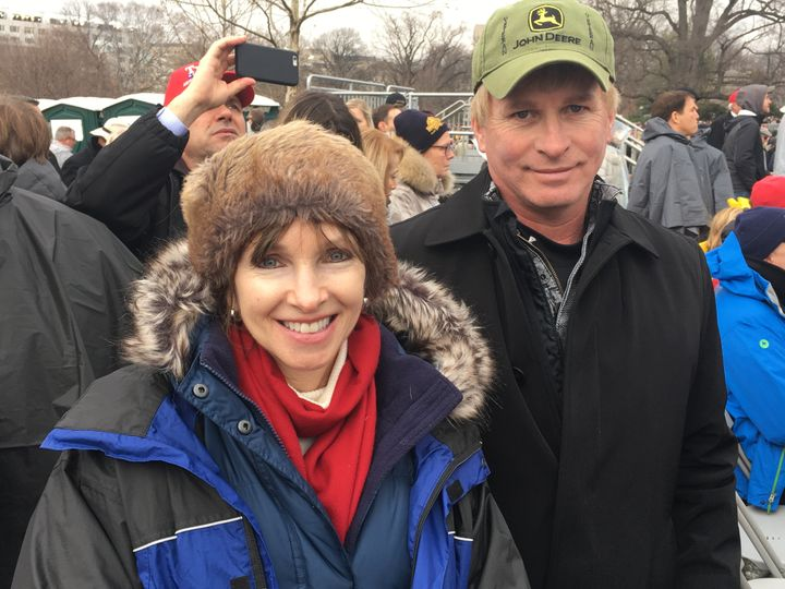 Kim Silvernagel of Maryland and her brother Ed Ritz from Akron, Iowa, want Trump to help farmers.<i></i>