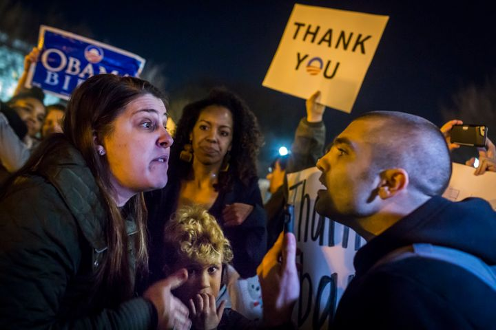 On the eve before Donald Trump is sworn in as the 45th President of the United States, in a pre-inauguration protest on