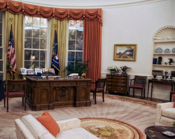 The Oval Office as it looked during Reagan's time in office.
