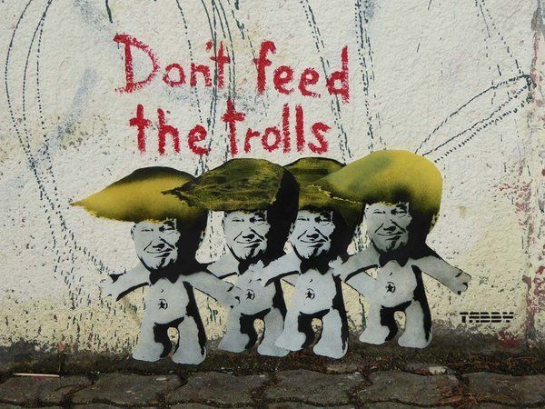 "<a href=""https://twitter.com/TABBYthis"" target=""_blank"">TABBY</a> painted ""Don't Feed The Trolls"" in Vienna"