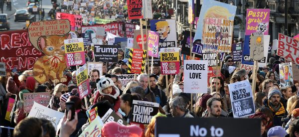 Women's Marches Rally Thousands In Cities Around The World