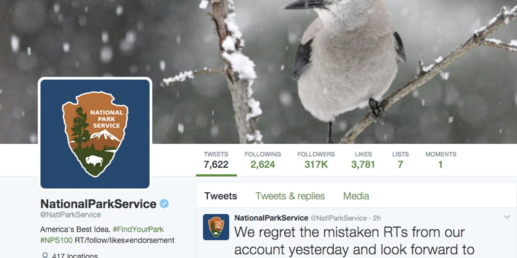 Interior Dept. Suspends Tweeting Over National Park Service's Anti-Trump Retweets