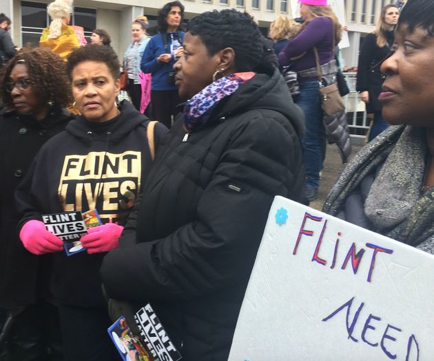 A group came from Flint, Michigan, to ask President Donald Trump to help address the city's water
